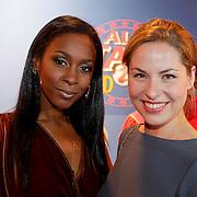 NLD/Amsterdam/20111010 - Premiere All Stars 2, Lucretia van der Vloot en Sanne Langelaar