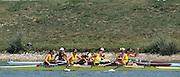 Zagreb, CROATIA.  AUS JW4-. bow, HARKER  Jessica, 2. SOUNNESS Heidi, 3. OUTWAITE Sarah, stroke, DEVITT Elizabeth  2000 FISA World Rowing Junior & Non-Olympic Seniors Championships   [Mandatory Credit Peter Spurrier/Intersport Images]