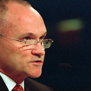 """Raymond """"Ray"""" Kelly, Commissioner of the New York Police Department (NYPD) testifying at the 9/11 Commission's 11th Public Hearing in New York City."""