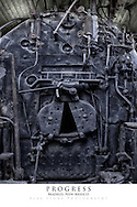 20x30 poster print of a coal furnace in a historical train engine.