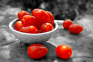 Fresh picked plum tomatoes