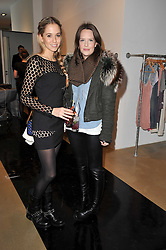 Left to right, FLORENCE BRUDENELL-BRUCE and ARABELLA MUSGRAVE at a party to launch pop-up store Oxygen Boutique, 33 Duke of York Square, London SW3 on 8th February 2011.