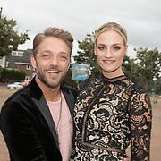 NLD/Scheveningen/20180710 - Finale van Miss Nederland verkiezing 2018, Tommie Christiaan en partner Michelle Splietelhof