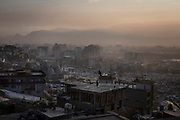 Air pollution rises over Kabul, Afghanistan, January 30, 2020. The capital Kabul, a city of some 6 million, ranks as one of the most polluted cities in the world – contesting amongst other polluted capitals such as India's New Delhi or China's Beijing.