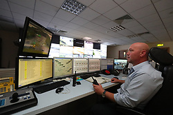 Duty Officer Johan Steyn on duty in the control room at the Dublin Tunnel headquarters before the speed camera enforcement system in the tunnel is set to go live on June 1, 2017.