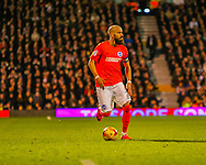 Bruno Saltor  of Brighton and Hove Albion during the Sky Bet Championship match at Craven Cottage, London<br /> Picture by Richard Brooks/Focus Images Ltd 07947656233<br /> 02/01/2017