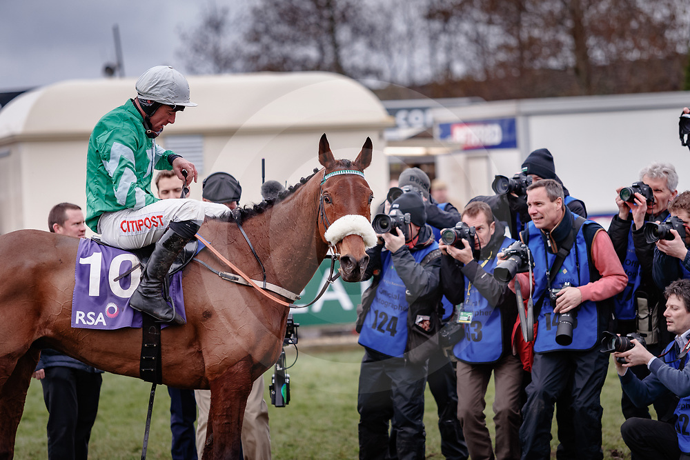 Presenting Percy (D. Russell) wins The RSA Insurance Novices' Steeple Chase Gr.1 in Cheltenham, 14/03/2018, photo: Zuzanna Lupa