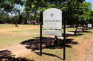 13-02-2016 -  Foto Cullinan diamantmijn: bord. Genomen tijdens tour bij Petra Cullinan Diamantmijn in Cullinan, Zuid-Afrika.