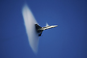 F-18 nears speed of sound