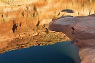 Lake Powell, sunrise reflections, Last Chance Canyon, Glen Canyon National Recreation Area, Utah