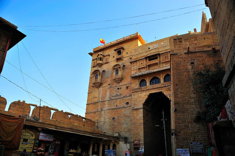 Jaisalmer fort gate in Rjasthan, in the Golden City