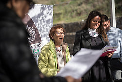 7 December 2019, Madrid, Spain: Laura Vargas from the Interfaith Rainforest Initiative, Peru leads a word of prayer, as people of faith gather in a 'Prayer for the Rainforest' as part of the Cumbre Social por el Clima, on the fringes of COP25 in Madrid, where faith-based organizations continue to urge decision-makers to take action for climate justice.