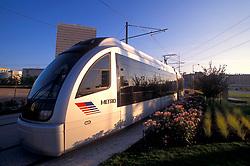 Metro light rail goes through downtown Houston