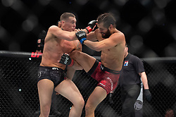 March 16, 2019 - London, United Kingdom - Jorge Masvidal knocks out home favourite Darren Till in the second round at UFC Fight Night 147 at the London O2 Arena, Greenwich on Saturday 16th March 2019. (Credit Image: © Mi News/NurPhoto via ZUMA Press)