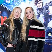 NLD/Amsterdam/20190112 - Premiere Hoe Tem je een Draak 3, Mylene en Rosanne Waalewijn