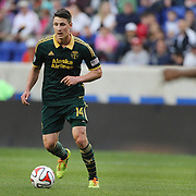 Ben Zemanski, Portland Timbers, in action during the New York Red Bulls Vs Portland Timbers, Major League Soccer regular season match at Red Bull Arena, Harrison, New Jersey. USA. 24th May 2014. Photo Tim Clayton