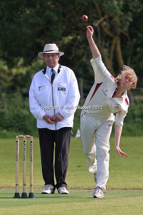 BIDDESTONE, UNITED KINGDOM. May 13 2012. Biddestone Cricket Club v Potterne U13.<br /> Photo Credit: Mark Chappell<br /> © Mark Chappell 2012. All Rights Reserved. See instructions.