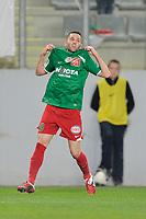 FOOTBALL - FRENCH CHAMPIONSHIP 2010/2011 - L2 - CS SEDAN v STADE LAVALLOIS - 22/04/2011 - PHOTO GUILLAUME RAMON / DPPI - JOY OF ALEXIS ALLART (SEDAN) AFTER THIS GOAL