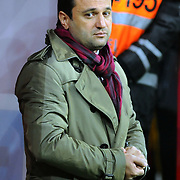 Eskisehirspor's coach Bulent UYGUN during their Turkish Super League soccer match Galatasaray between Eskisehirspor at the Turk Telekom Arena at Seyrantepe in Istanbul Turkey on Sunday, 06 February 2011. Photo by TURKPIX