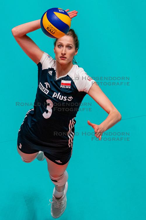 28-05-2019 NED: Volleyball Nations League Bulgaria - Poland, Apeldoorn<br /> <br /> Klaudia Alagierska #3 of Poland