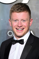 Adam Peaty attending the Lost in Space event to celebrate the 60th anniversary of the OMEGA Speedmaster held in the Turbine Hall, Tate Modern, 25 Sumner Street, Bankside, London. PRESS ASSOCIATION Photo. Picture date: Wednesday 26 April  2017. Photo credit should read: Ian West/PA Wire