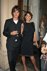 SADIE FROST and JACKSON SCOTT at the Tatler Summer Party in association with Moschino at Home House, 20 Portman Square, London W1 on 29th June 2005.<br /><br />NON EXCLUSIVE - WORLD RIGHTS