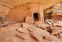 Anasazi granary ruins, Road Canyon of Grand Gulch Primitive Area, Cedar Mesa Utah Bears Ears National Monument