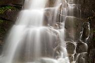 Detailed shot of Eureka Falls flowing into Silverhope Creek near Hope, British Columbia.