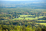 The Blue Ridge Parkway and the Shenandoah National Forest mountain range.