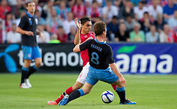 """26.05.2012, Ullevaal Stadion, Oslo, NOR, UEFA EURO 2012, Testspiel, Norwegen vs England, im Bild England's Scott Parker (Tottenham Hotspur) in action against Norway's Mohammed """"Moa"""" Abdellaoue (Hannover) during the Preparation Game for the UEFA Euro 2012 betweeen Norway and England at the Ullevaal Stadium, Oslo, Norway on 2012/05/26. EXPA Pictures © 2012, PhotoCredit: EXPA/ Propagandaphoto/ Vegard Grott..***** ATTENTION - OUT OF ENG, GBR, UK *****"""