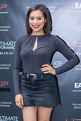 © Licensed to London News Pictures . 31/07/2017 . Manchester , UK . Coronation Street actor Tisha Merry at the opening event for Up Gym in Spinningfields . Photo credit : Joel Goodman/LNP