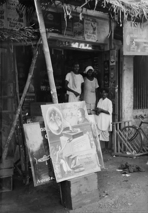 Gramophone Record Advertisement, Tanjore, India, 1929