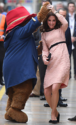 The Duke and Duchess of Cambridge and Prince Harry attend a Charities Forum event, and meet the cast and crew from the forthcoming film Paddington 2, at Paddington Station, London, UK, on the 16th October 2017. 12 Oct 2017 Pictured: The Duke and Duchess of Cambridge and Prince Harry attend a Charities Forum event, and meet the cast and crew from the forthcoming film Paddington 2, at Paddington Station, London, UK, on the 16th October 2017. Picture by James Whatling. Photo credit: James Whatling / MEGA TheMegaAgency.com +1 888 505 6342