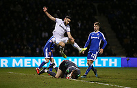 West Ham United's Robert Snodgrass is beaten to the ball by Gillingham's Jack Bonham<br /> <br /> Photographer Rob Newell/CameraSport<br /> <br /> Emirates FA Cup Third Round - Gillingham v West Ham United - Sunday 5th January 2020 - Priestfield Stadium - Gillingham<br />  <br /> World Copyright © 2020 CameraSport. All rights reserved. 43 Linden Ave. Countesthorpe. Leicester. England. LE8 5PG - Tel: +44 (0) 116 277 4147 - admin@camerasport.com - www.camerasport.com