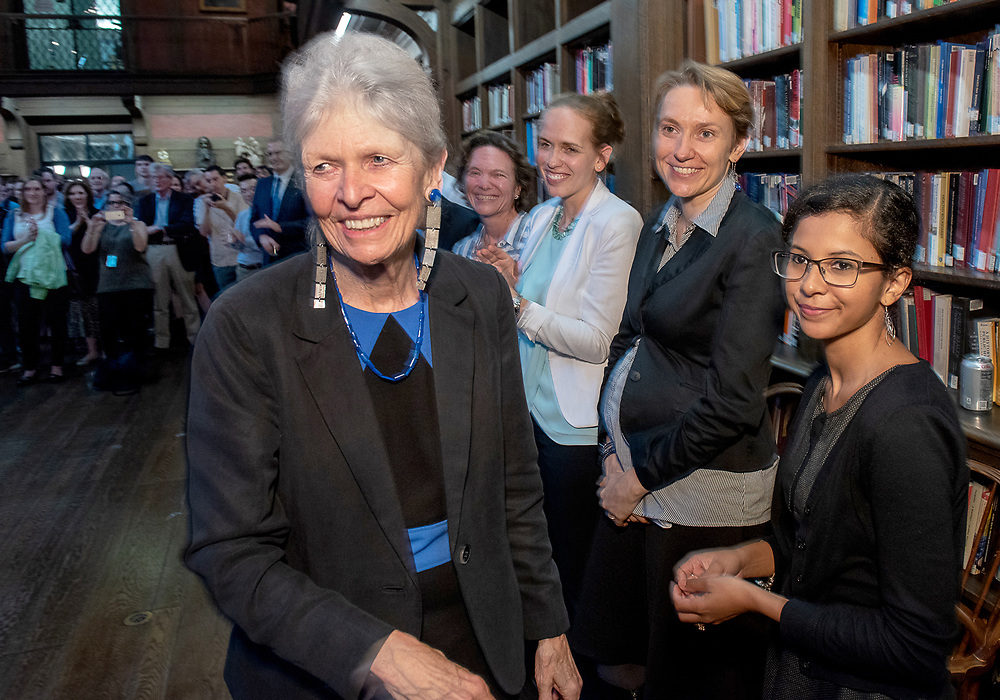 Photography ©Mara Lavitt<br /> September 13, 2018<br /> Yale School of Medicine Library, Cedar St. New Haven<br /> <br /> Reception for Lasker Award winner Joan Steitz.