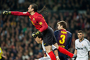 Pinto clear the ball