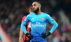 Alexandre Lacazette of Arsenal looks dejected. - Mandatory by-line: Alex James/JMP - 14/01/2018 - FOOTBALL - Vitality Stadium - Bournemouth, England - Bournemouth v Arsenal - Premier League
