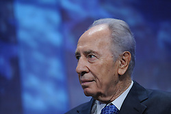 September 13, 2016 - Former Israeli President and Prime Minister Shimon Peres has been hospitalized after suffering a major stroke in Jerusalem. PICTURED: Sep 25, 2008 - New York, NY, U.S. - Israeli Foreign Minister SHIMON PEREZ at the Clinton Global Initiative meeting in New York City. (Credit Image: © Sharkpixs/ZUMAPRESS.com)
