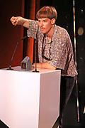 Dankesrede von Adrian Vogt, Gewinner des Awards in der Kategorie «Online». Verleihung der Swiss Comedy Awards am 20. September 2020 im Bernhard Theater Zürich.