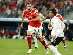 June 19, 2018 - St. Petersburg, Russia - 19 June 2018, Russia, St. Petersburg, FIFA World Cup 2018, First Round, Group A, First Matchday, Russia v Egypt. Player of the national team Artiom Dzyuba  (Credit Image: © Russian Look via ZUMA Wire)
