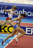 Photo: Rich Eaton.<br /> <br /> EAA European Athletics Indoor Championships, Birmingham 2007. 04/03/2007. Kim Gevaert of Belgium wins gold in the womens 60m final