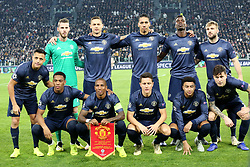 November 7, 2018 - Turin, Piedmont, Italy - Players of Manchester United before the UEFA Champions League match between Juventus FC and Manchester United FC,  at Allianz Stadium on November 07, 2018 in Turin, Italy..Juventus FC lost 1-2 against Manchester United. (Credit Image: © Massimiliano Ferraro/NurPhoto via ZUMA Press)