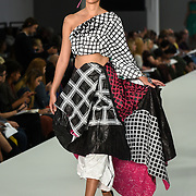 Designer Jessica Purdie showcases lastest collection of Bath Spa University at the Graduate Fashion Week 2018, 4 June 4 2018 at Truman Brewery, London, UK.