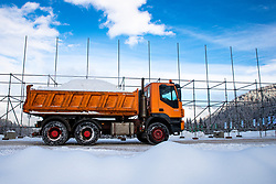 Truck full of snow at preparation of Planica Hill 6 days before FIS Ski Flying World Championships 2020, on December 4, 2020 in Planica, Slovenia. Photo by Matic Klansek Velej / Sportida