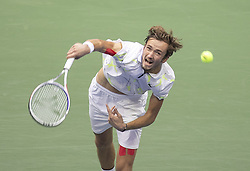 September 8, 2019, Flushing Meadows, New York, United States of America: Daniil Medvedev during his Men Singles Finals match against Rafael Nadal on Day 14 of the 2019 US Open at USTA Billie Jean King National Tennis Center on Sunday September 8, 2019 in the Flushing neighborhood of the Queens borough of New York City. JAVIER ROJAS/PI (Credit Image: © Prensa Internacional via ZUMA Wire)