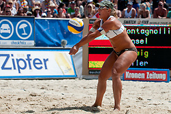 Sara Montagnolli of Austria at A1 Beach Volleyball Grand Slam tournament of Swatch FIVB World Tour 2010, for bronze medal, on July 31, 2010 in Klagenfurt, Austria. (Photo by Matic Klansek Velej / Sportida)