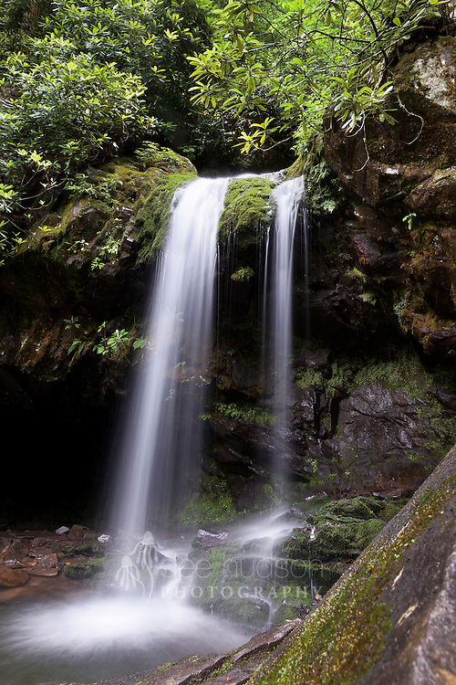 Hiking the Trillium Gap Trail in the Smoky Mountains, this picturesque waterfall was my reward at the end of the climb. What is really unique about Grotto Falls is that I was able to also hike behind the falls, as the trail is carved right into the rock face at the waterfall's back.