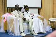 "Wedding of Refugees who escaped separately from Sudan and reunited in Israel, takes place at the ""Lift Up Your Head"" church in South Tel Aviv. The Bride and Groom,"