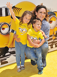 """Angelica Vale and Kids arrives at the """"Despicable Me 3"""" Los Angeles Premiere held at the Shrine Auditorium in Los Angeles, CA on Saturday, June 24, 2017.  (Photo By Sthanlee B. Mirador) *** Please Use Credit from Credit Field ***"""