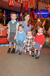 GALLIA GRIMSTON and her children (L-R) MERLIN, LORCAN, OPHELIA and HECTOR at Never Land Children's Party at the Bulgari Hotel, 171 Knightsbridge, London on 26th April 2016.